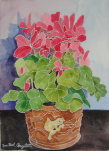 Cyclamen with Frog